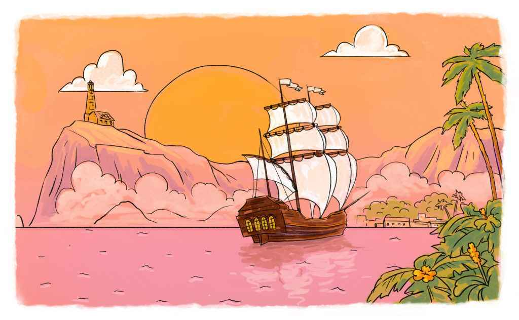 Animated illustration in the article about creating an animated video