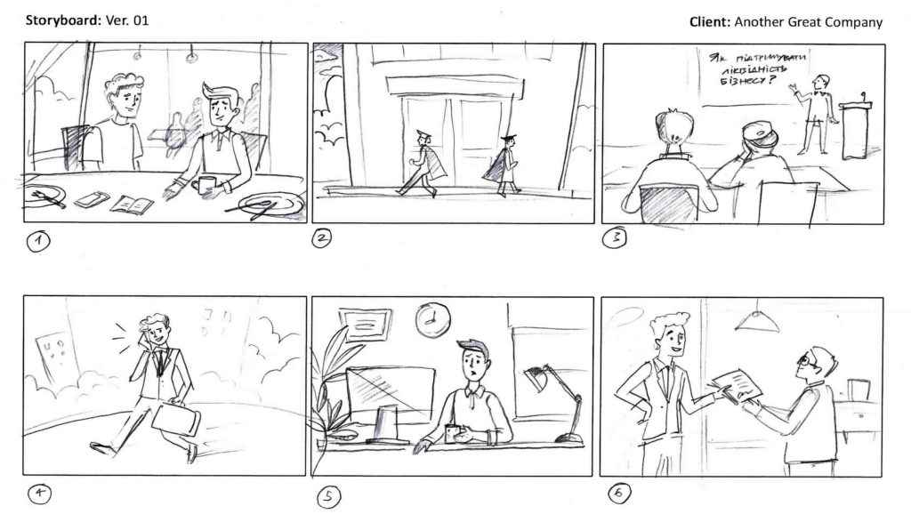 What does the storyboard look like?