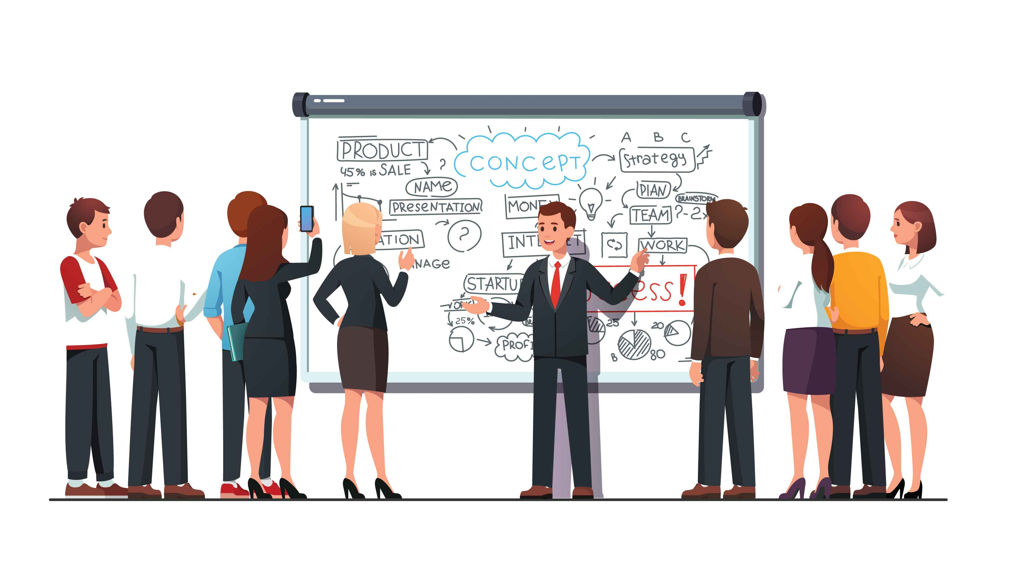 Whiteboard animation for business