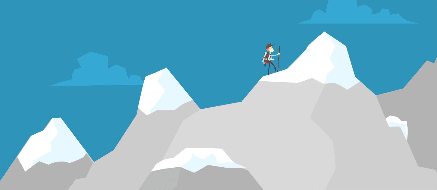 Climbing to the top of the mountain - an article about creating an animated video