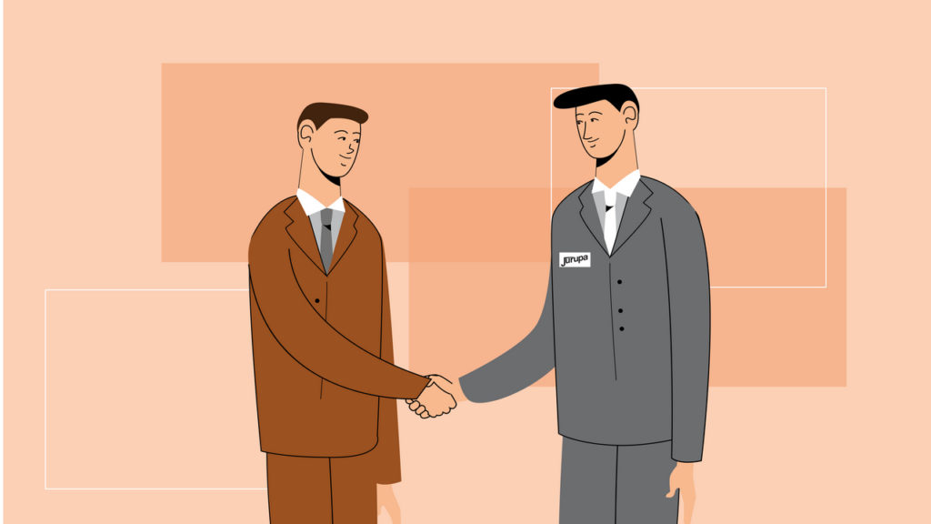 Handshake in the Animated Video