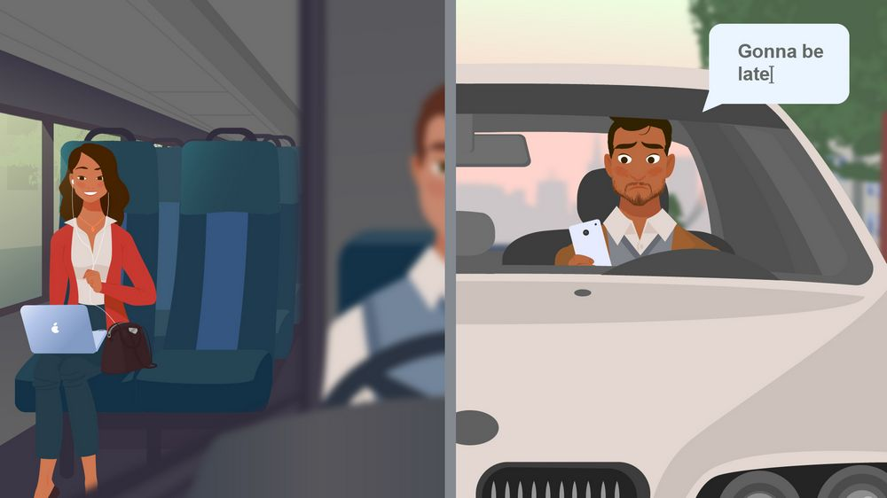 Transport in 2D Animated Video
