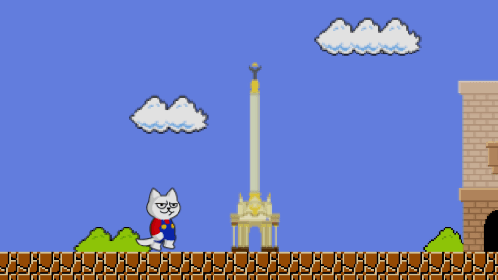 Animated video about the Super Mario Game Cat