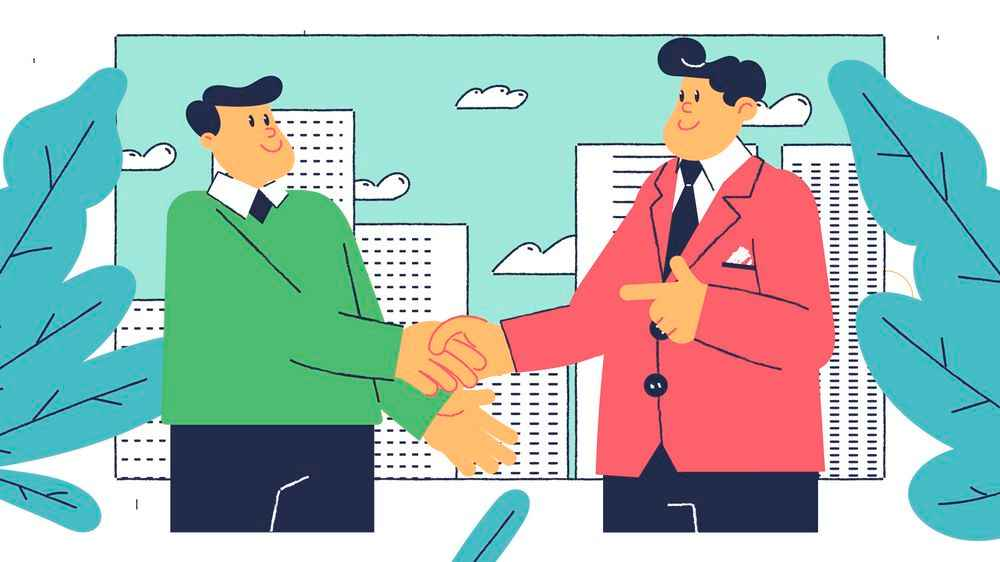 Handshake in Outstaffing Explainer Video