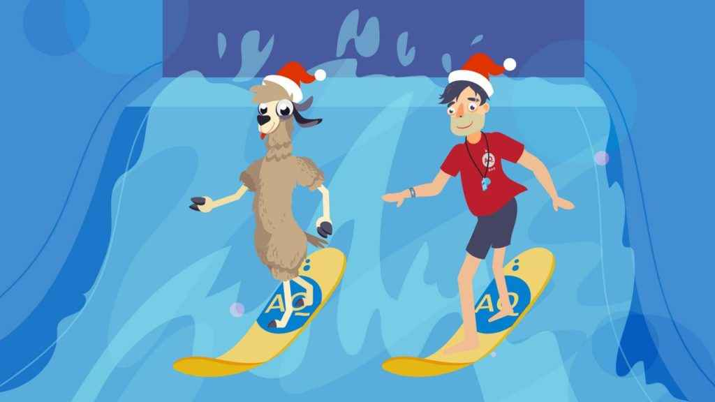 Surfing in the pool - 2D Animated Video