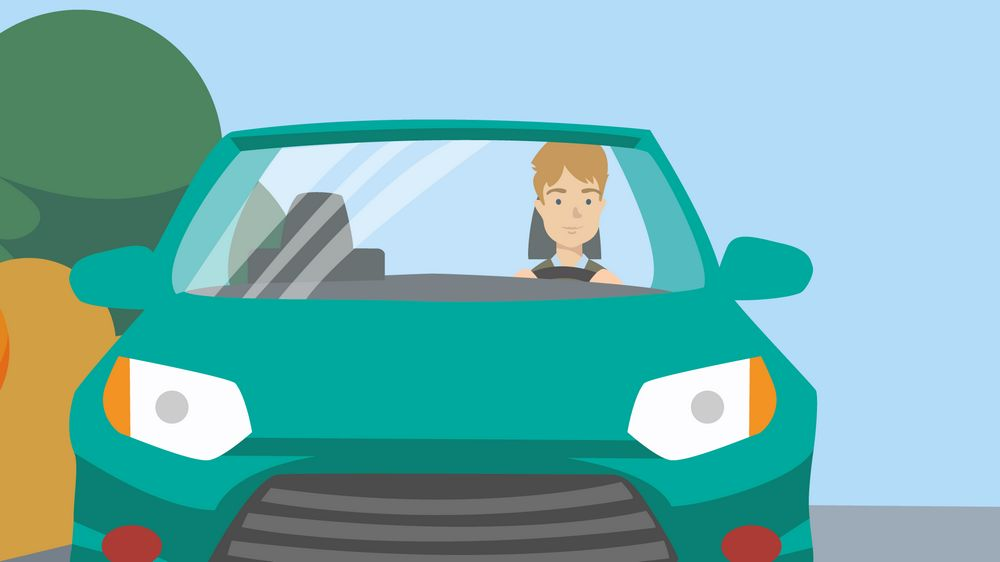 The man behind the wheel - Character Animation