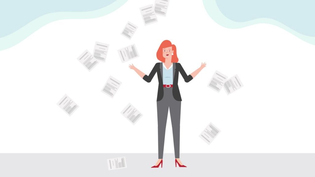 Puzzled woman - 2D Animation