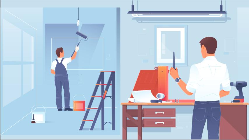 Renovation work - 2D Animation