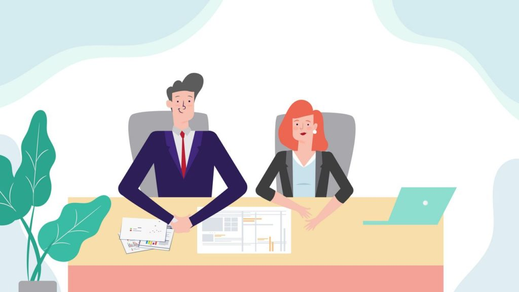 Company employees in 2D Animated Video