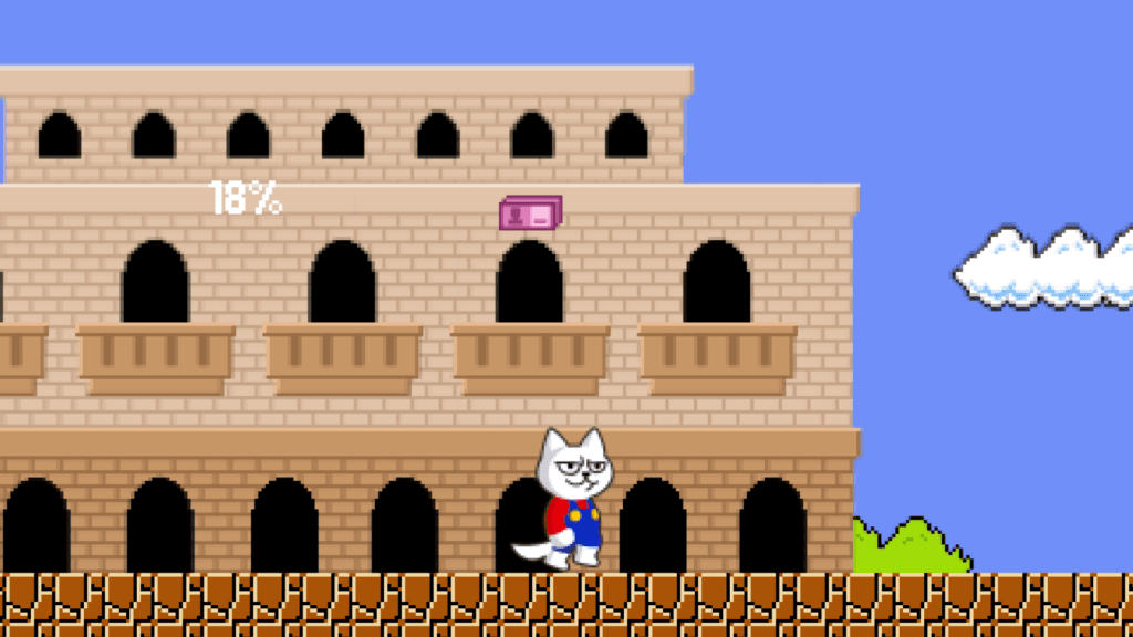 Animated Video about the game Super Mario Cat