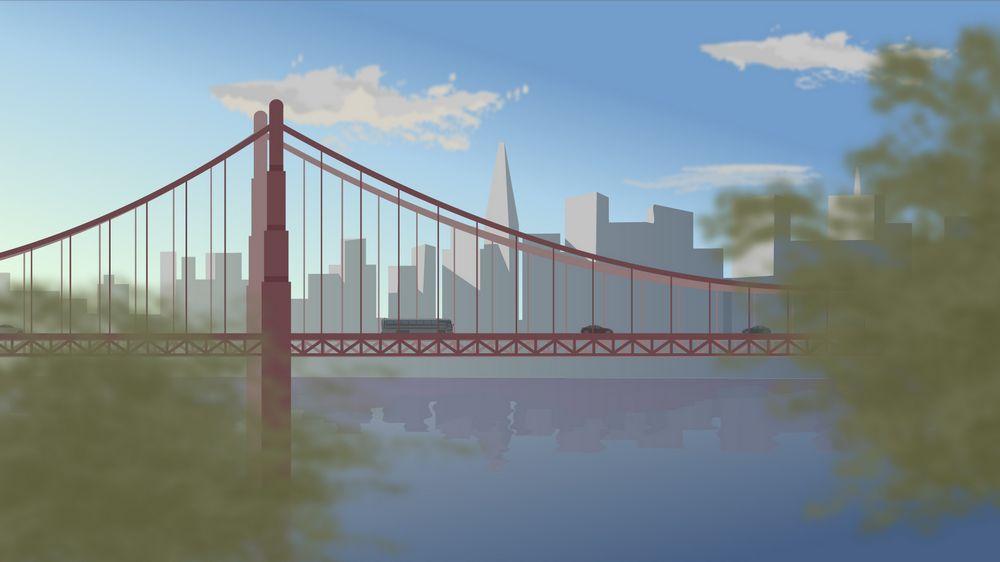Bridge in 2D Animated Video