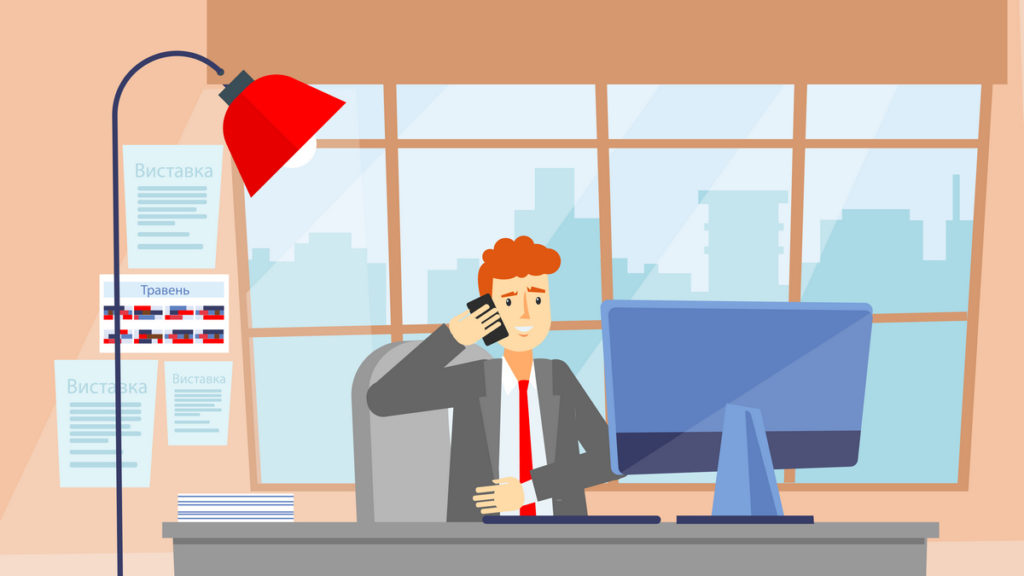 Business conversation in 2D Animated Video