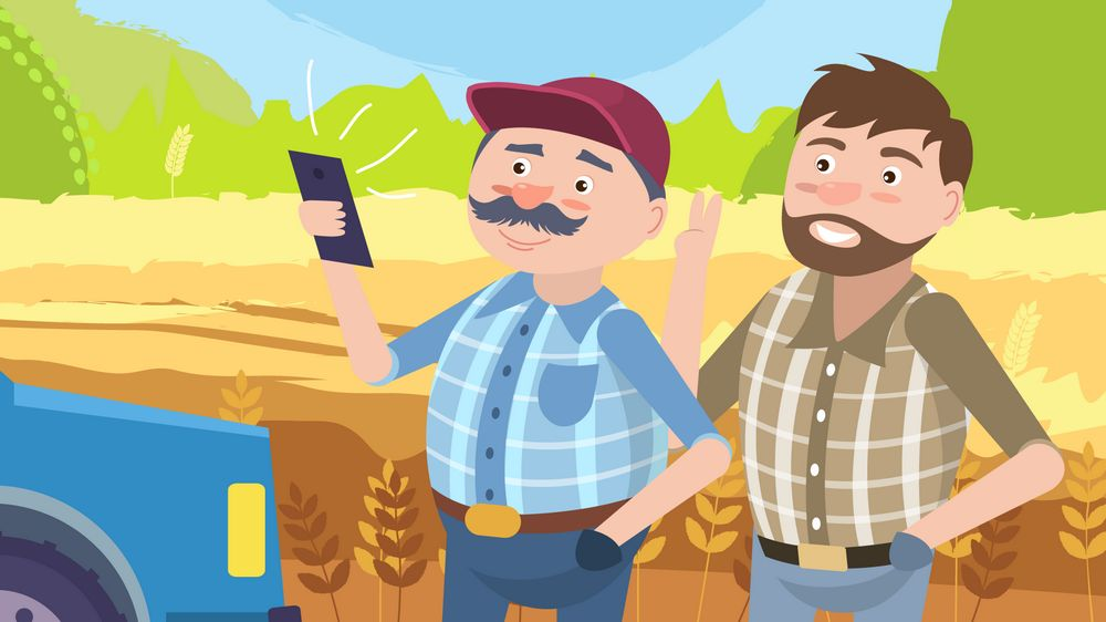 Farmers in Animated Advertising Video