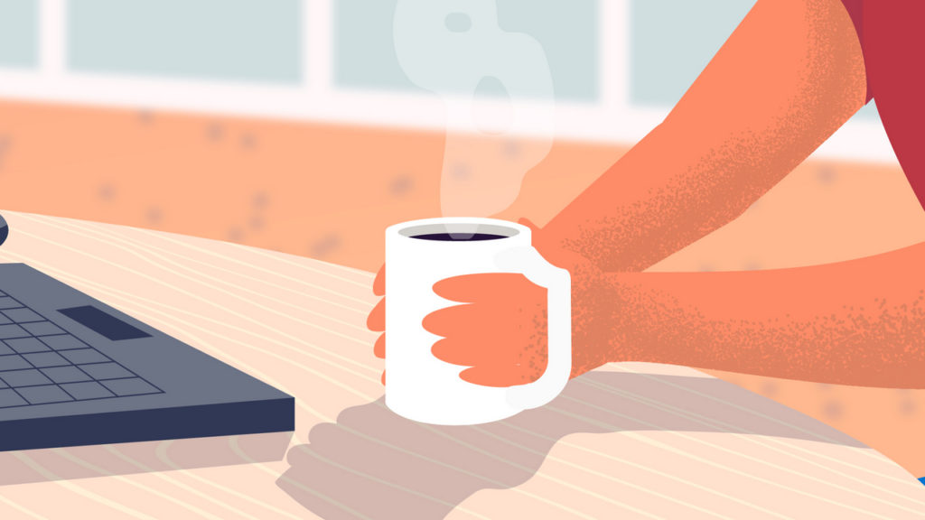 A cup of aromatic coffee in Animated Video