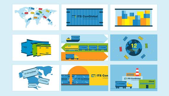 Animated Cars, Logistics and Transportation Video