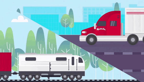 Animated video about logistics