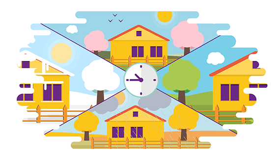 Animation of a house