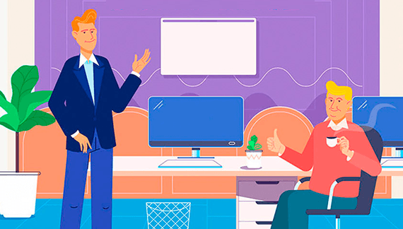 Animation Characters in Human Resources and Recruiting Videos