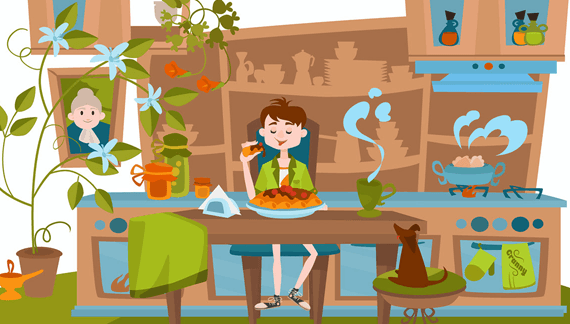 Baby eating - Character Animation in Kids Content Video