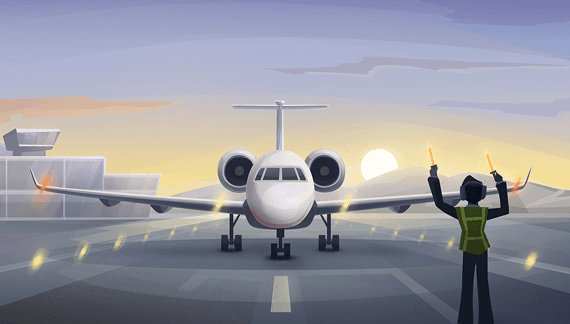 Airplane takes off - 2D Animation Video