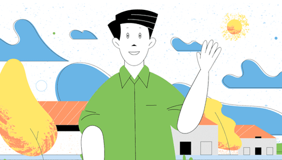 Animated character in Startup Video