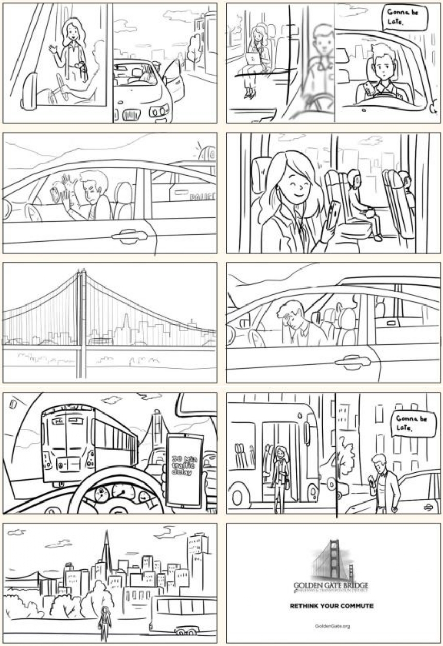 """Storyboard for the video """"Side by Side"""""""