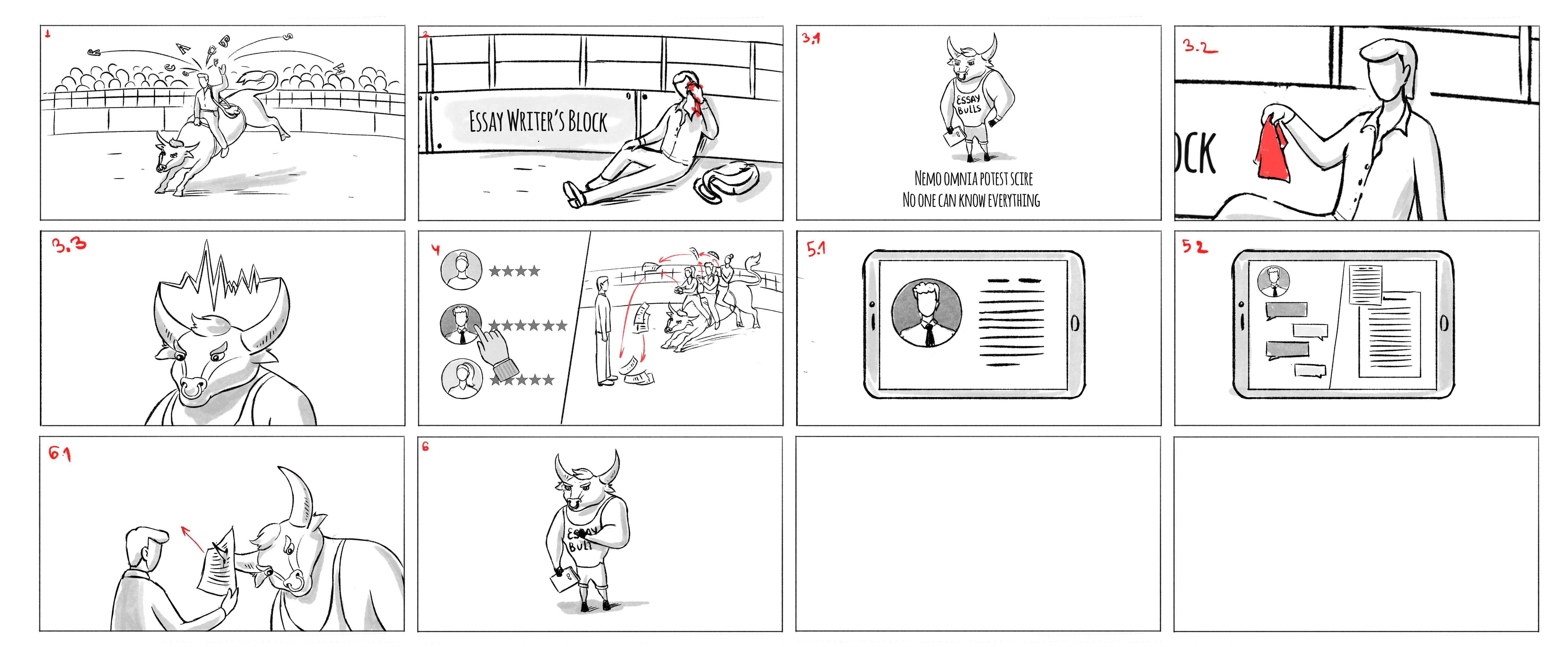"""Storyboard for the animated video """"No Idea"""""""