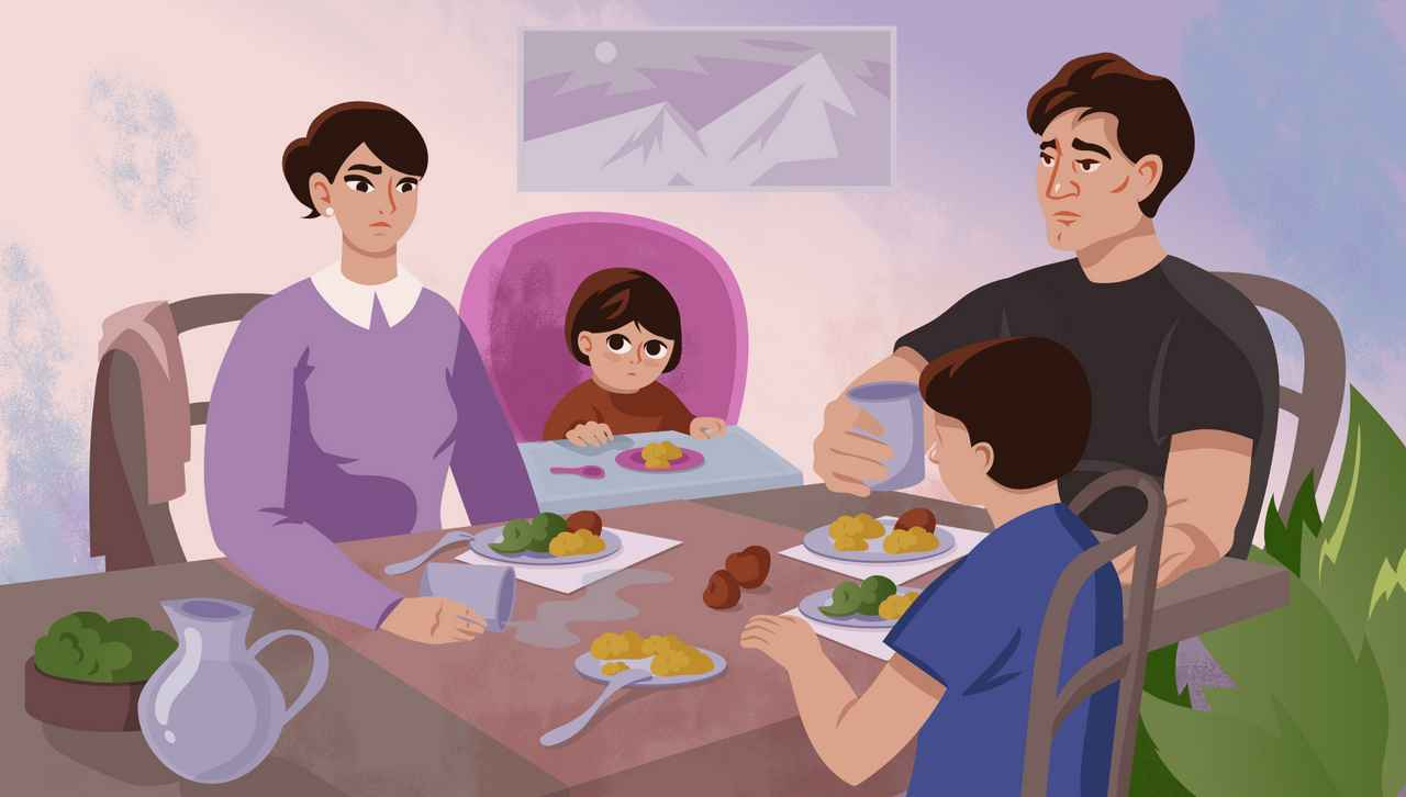 Family dinner   Animation by Darvideo studio