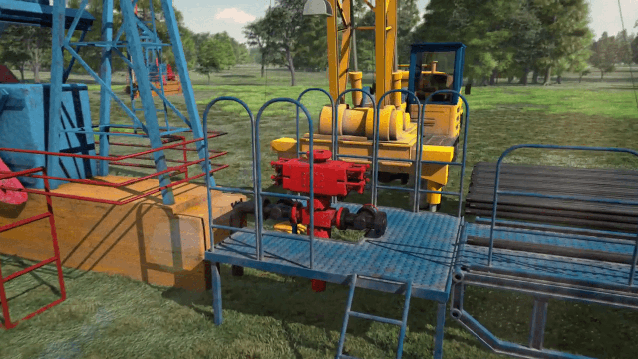 Oil drilling equipment - 3D Animation