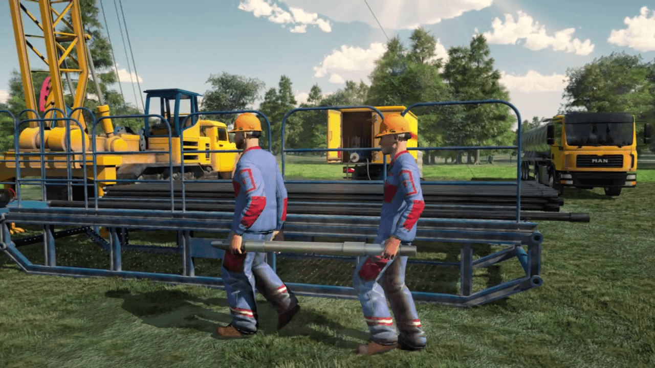 Oil drilling process - 3D Animated Video