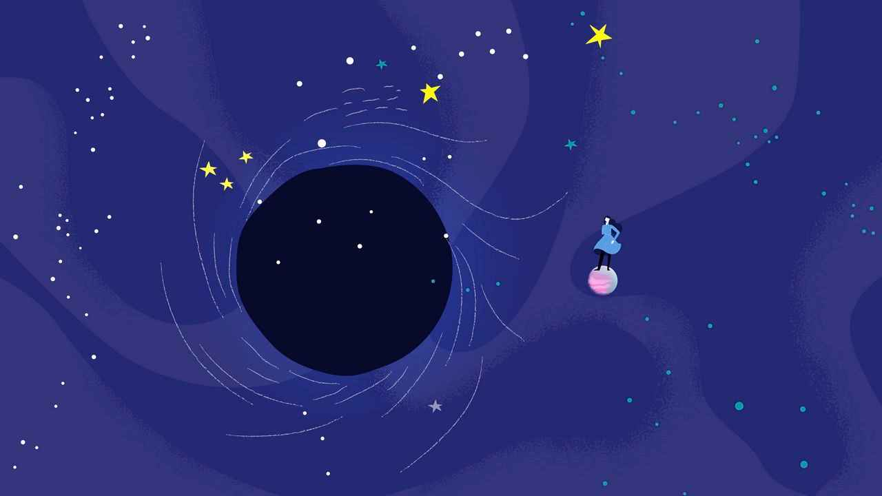 Black hole | Animation by Darvideo