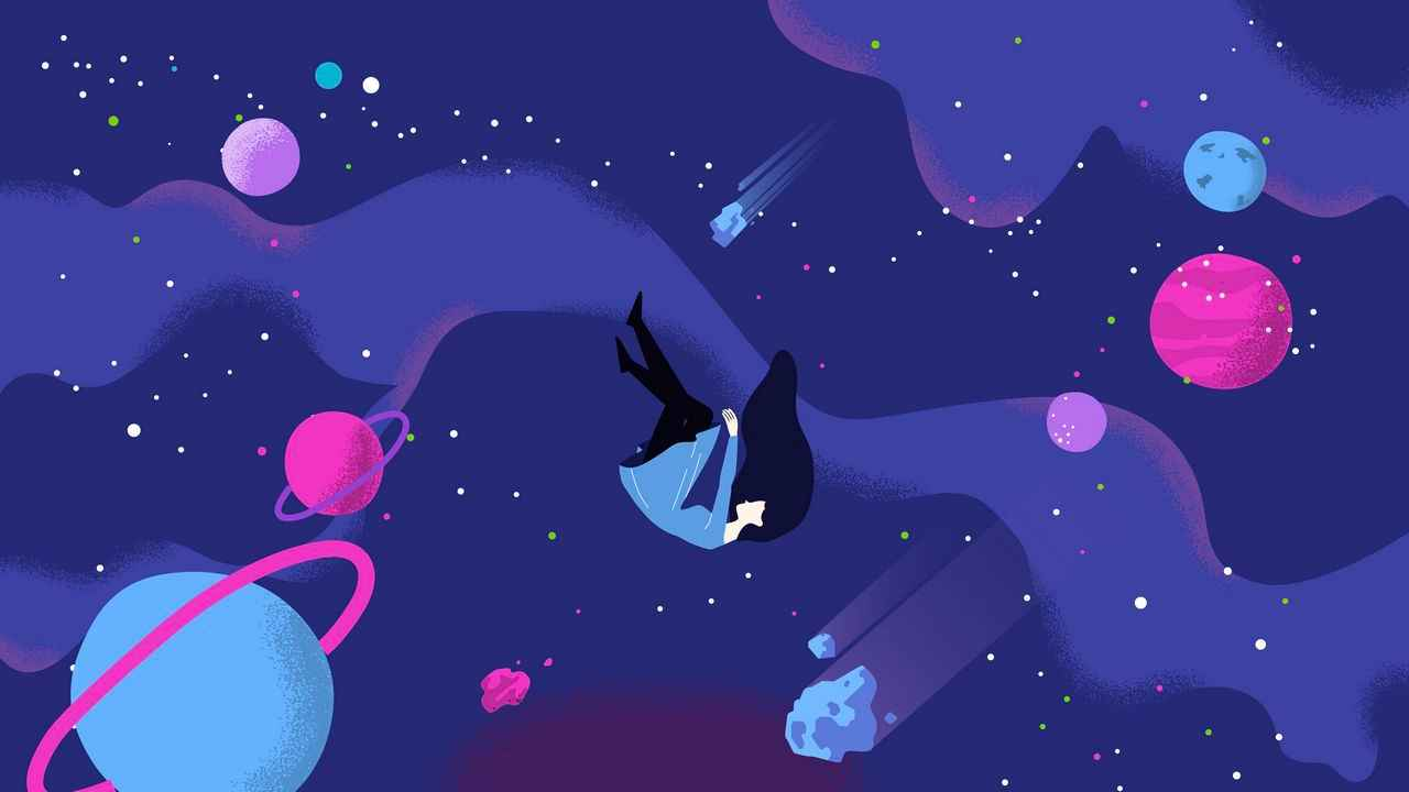 Planets in animation format