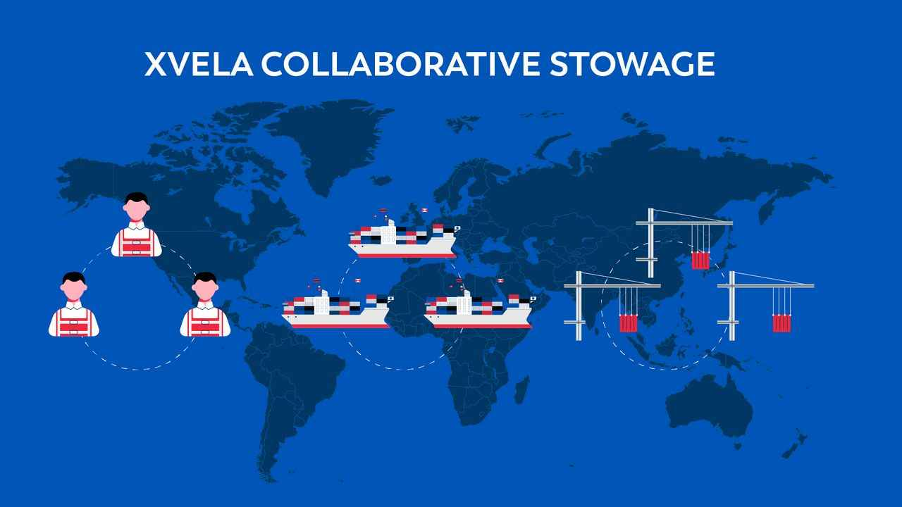 Xvela collaborative stowage | 2D Animation by Darvideo