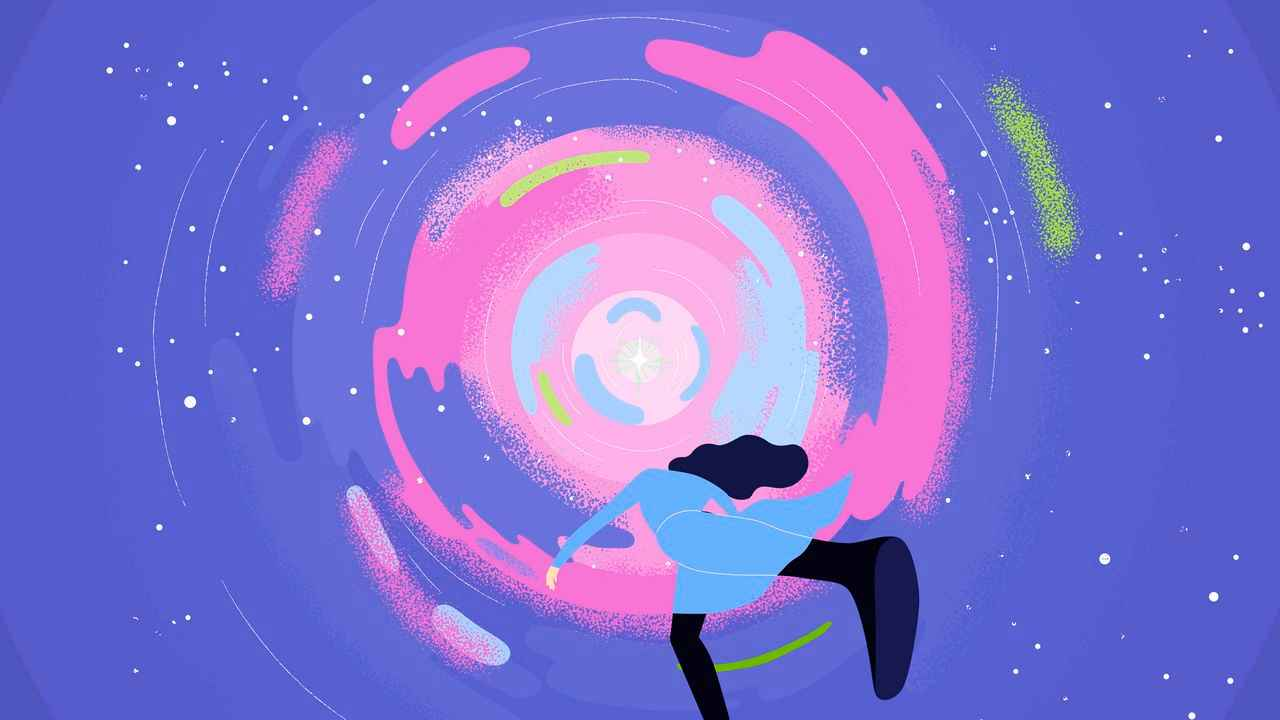 Girl in a circle | Darvideo Animation