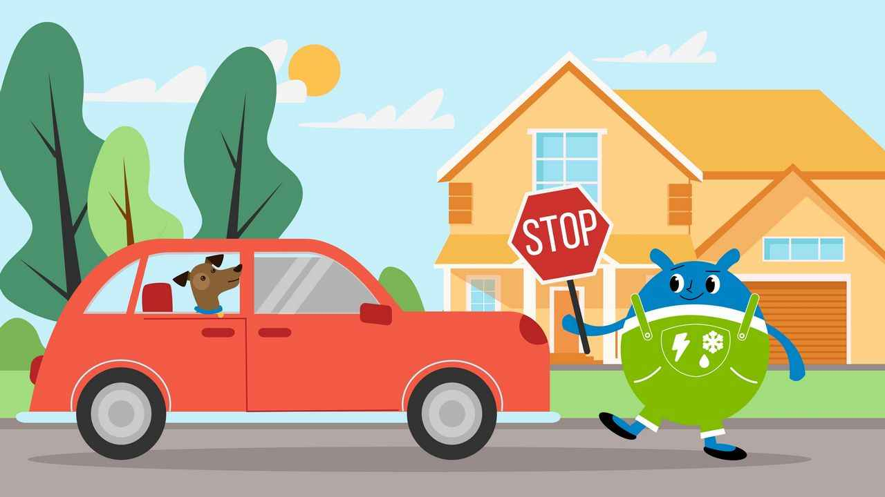 Stop sign in Weather Bug Educational Video