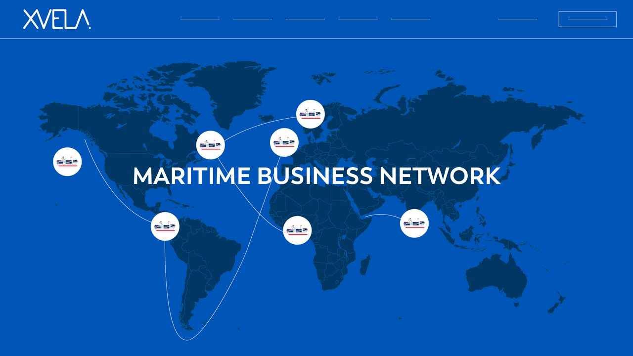 Maritime business network | Software Animation