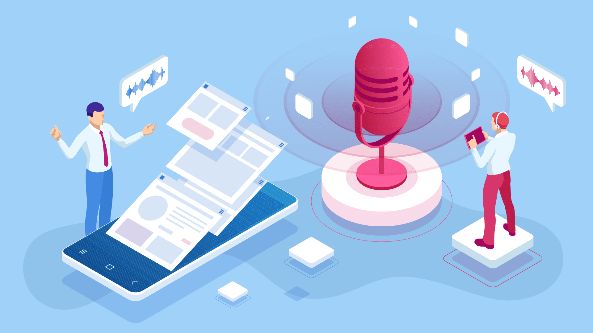 Voiceover creation - article by Darvideo studio