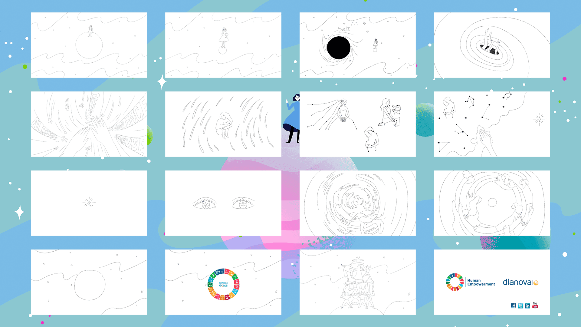 """Storyboard for """"Human Empowerment Animated Video"""""""