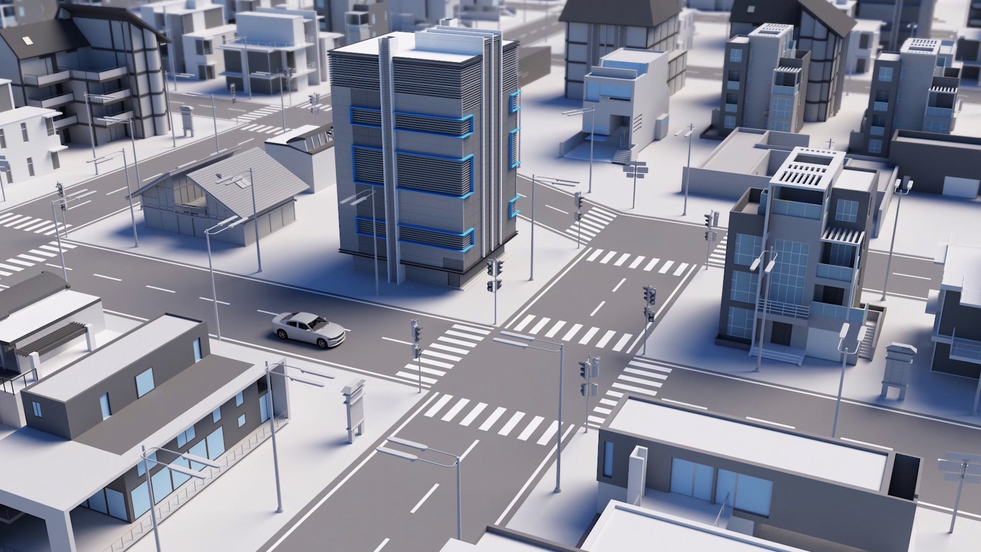 City streets - 3D Animated Video