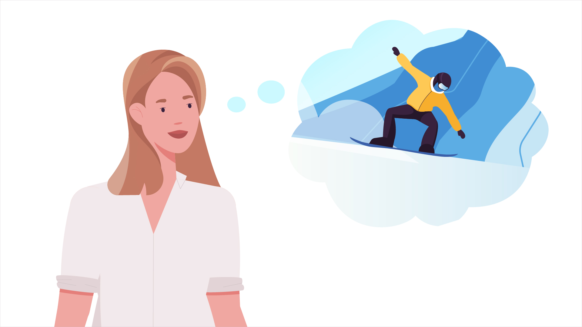 Dreams | Snowboarding | Animation by Darvideo