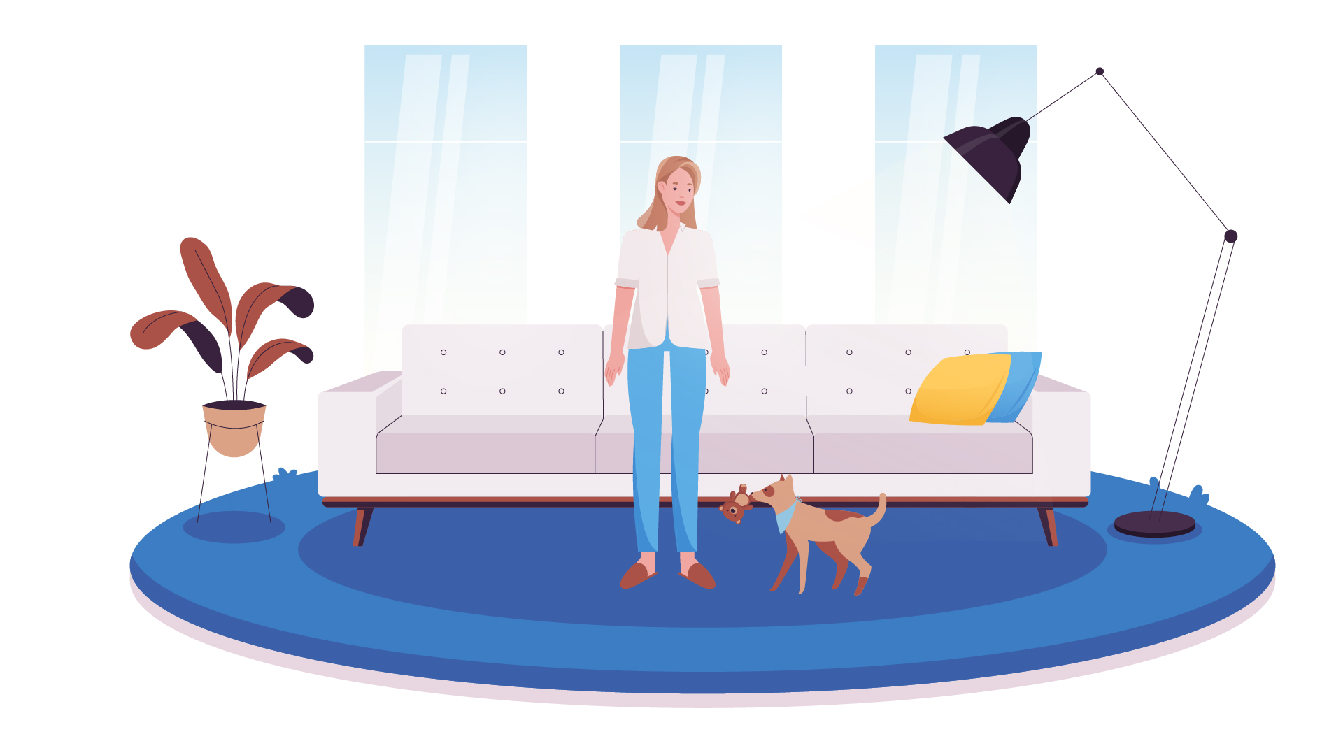 Cozy living room | 2D Animated Video | Darvideo Animation