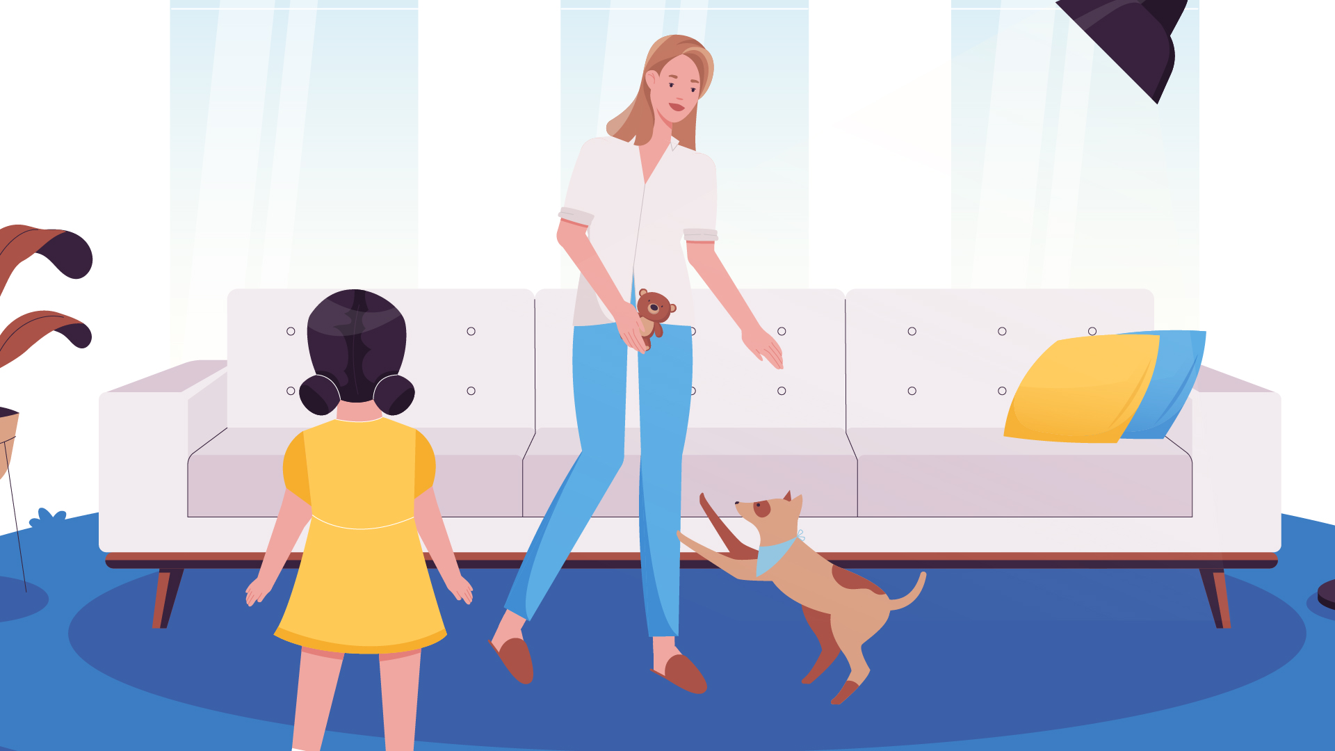 Woman with pet | Animated Commercial Video