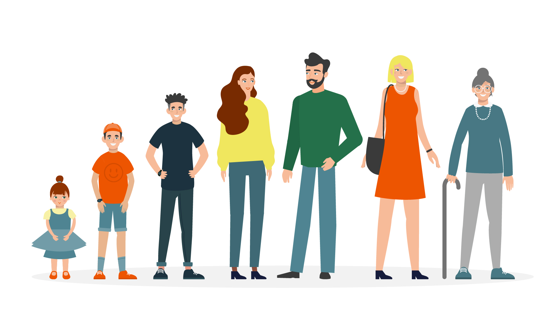 Different generations   Animated video by Darvideo Studio