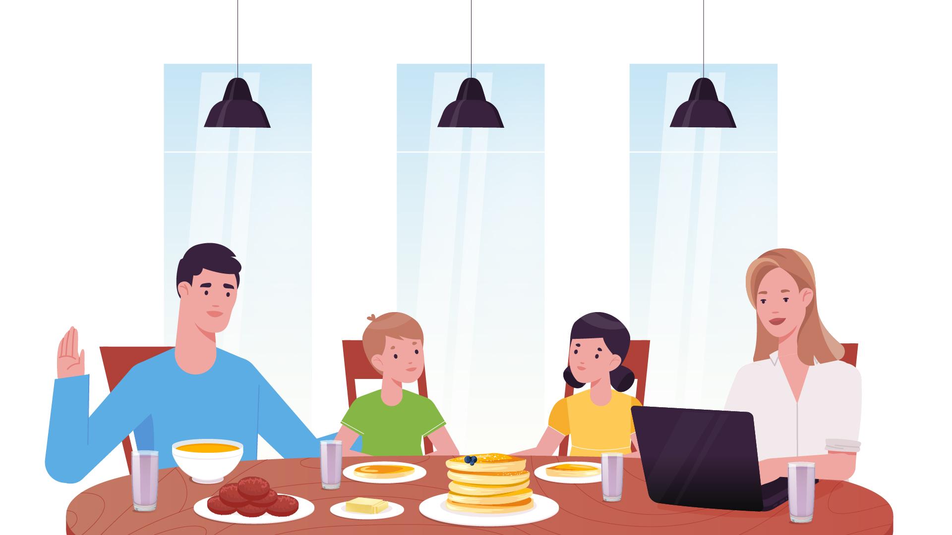 Family dinner - 2D animation