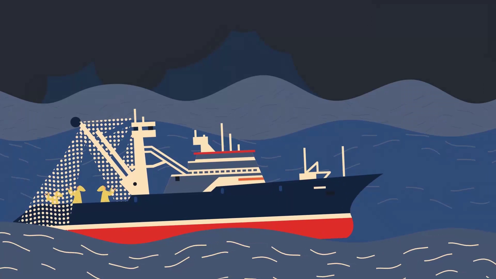 Ship in the sea - Darvideo animation
