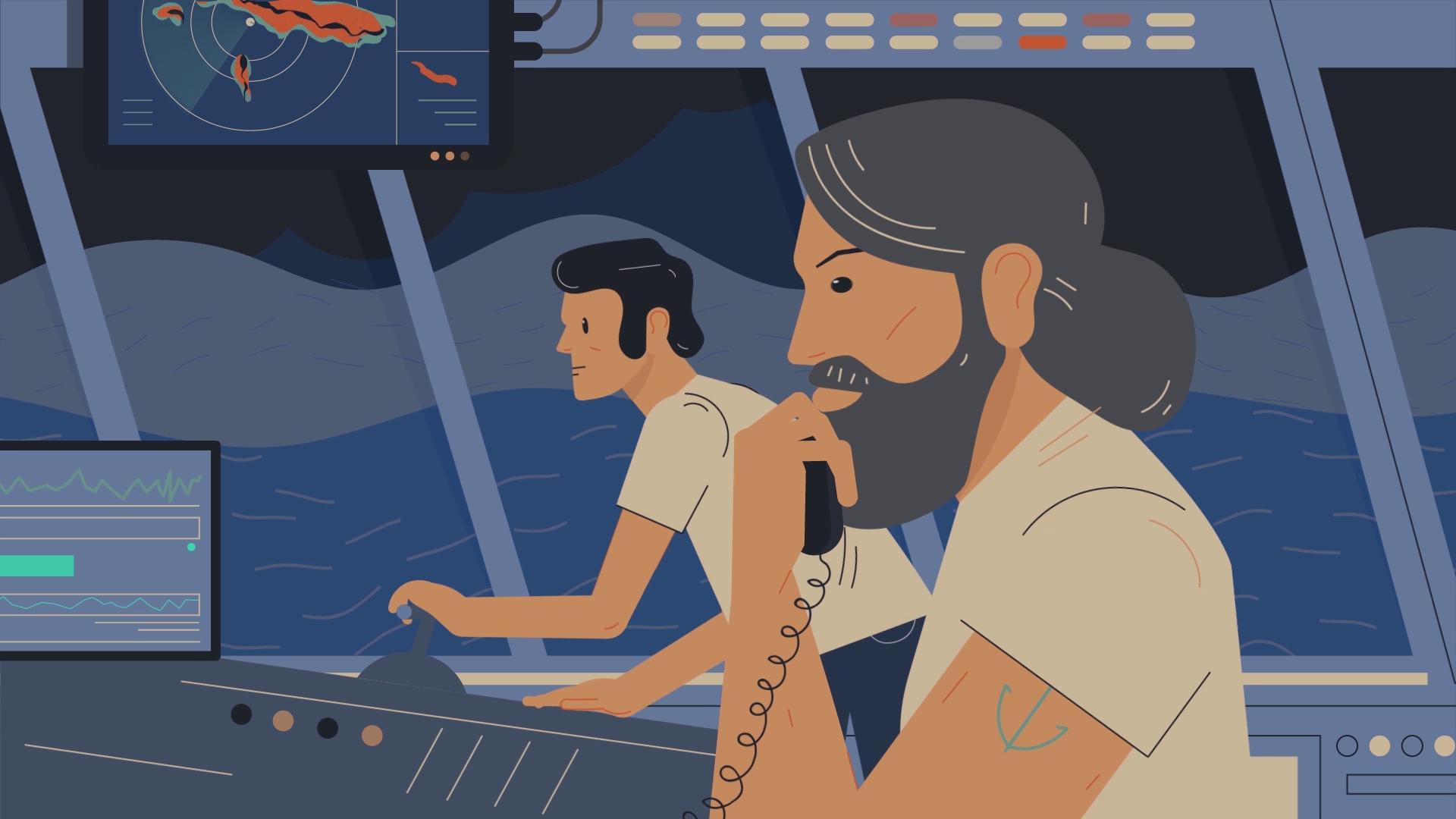 Captain of the ship | Innovative Sailing Simulator Explainer