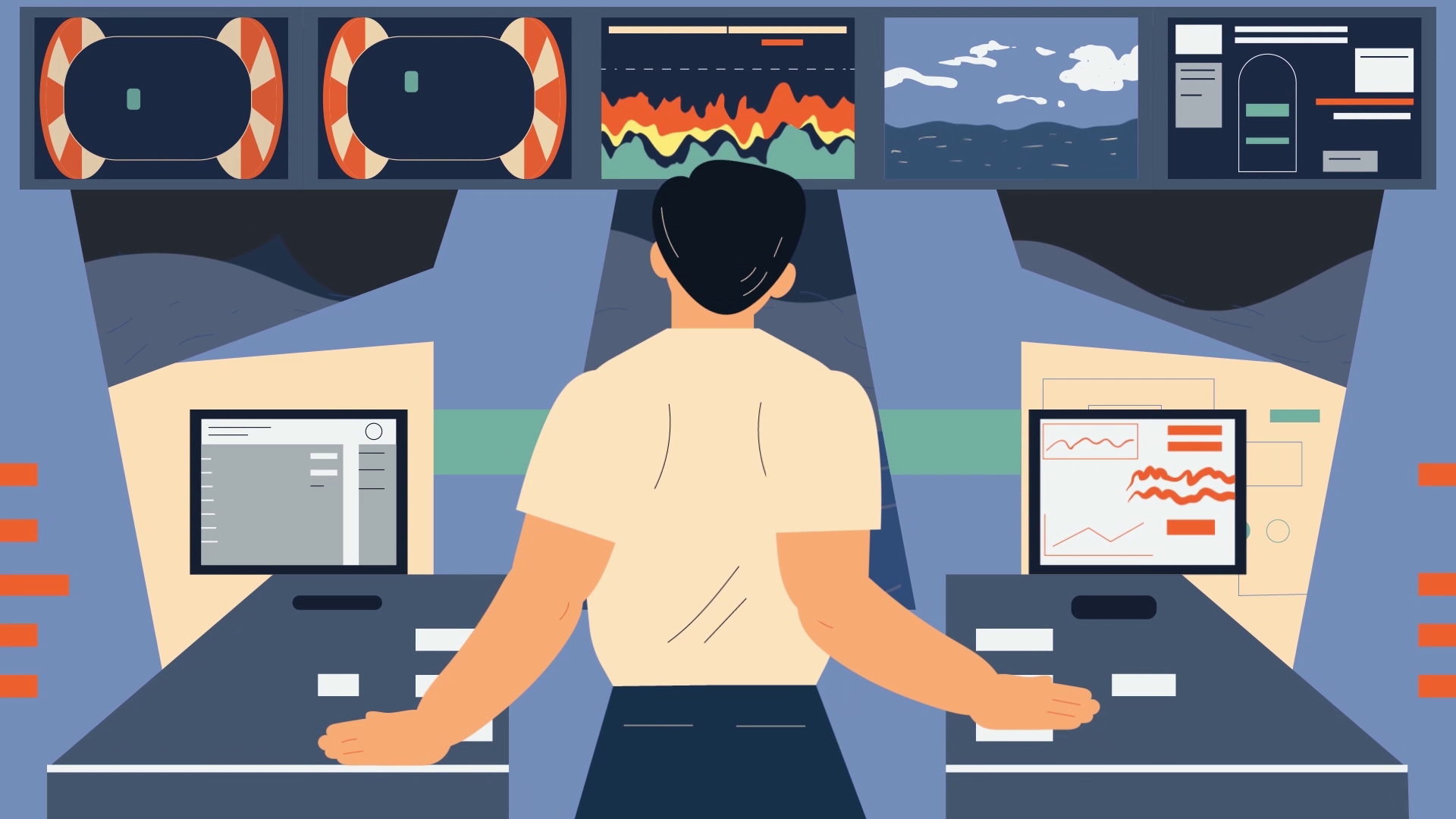 Ship management in Animated Video