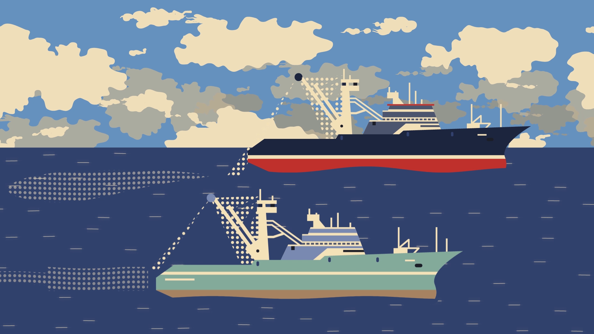 Ships in the sea | Video Marketing