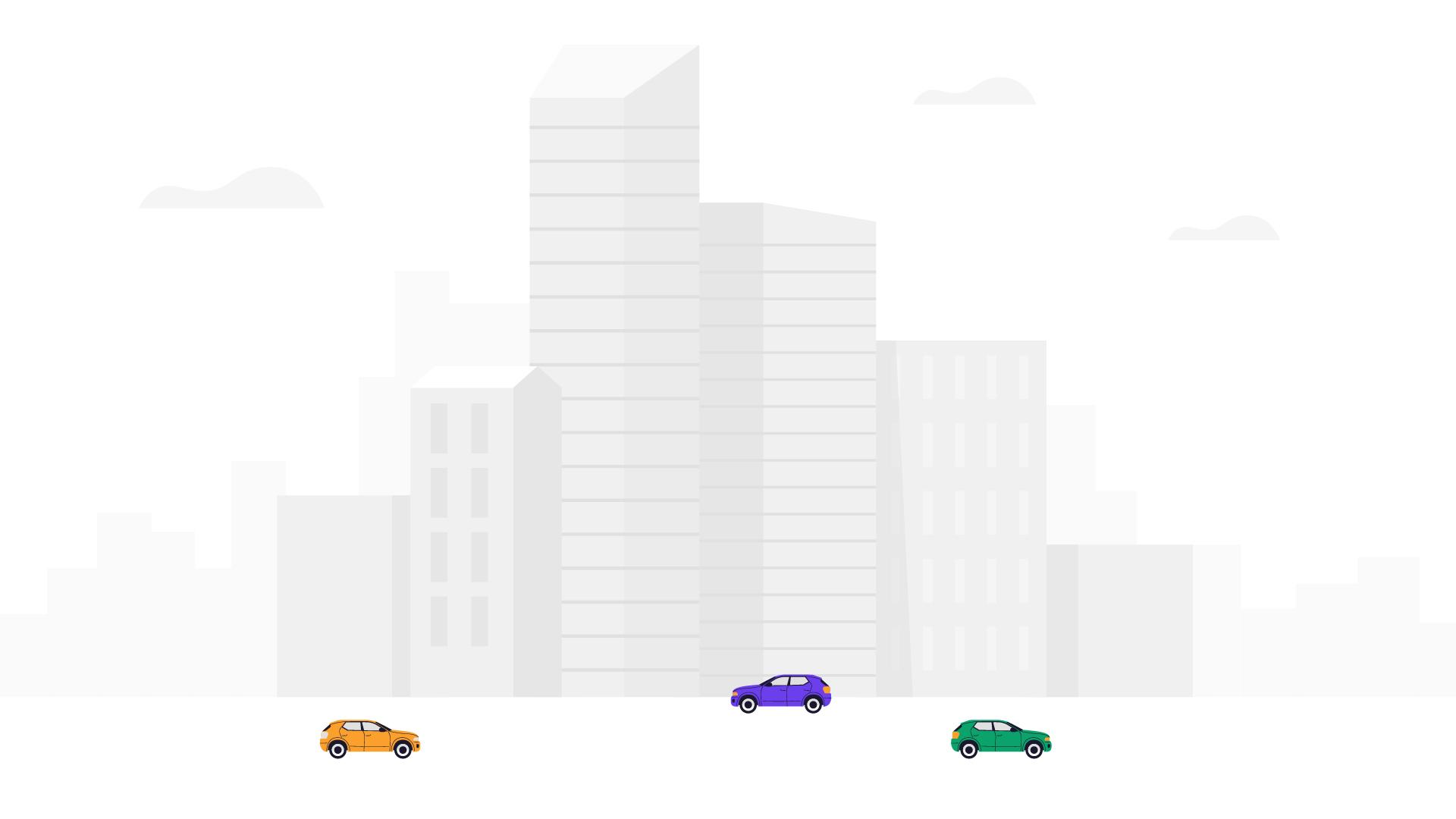 Simple 2D city animation