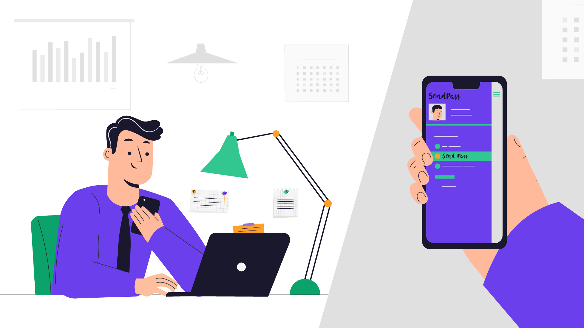 App for businessmen   Animated video about app